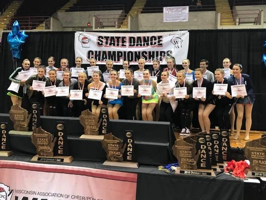 The D.C. Everest dance team achieved two top-five finishes
