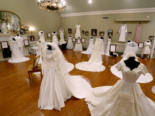 "The annual ""Wedding Dresses Through the Decades"" exhibit"
