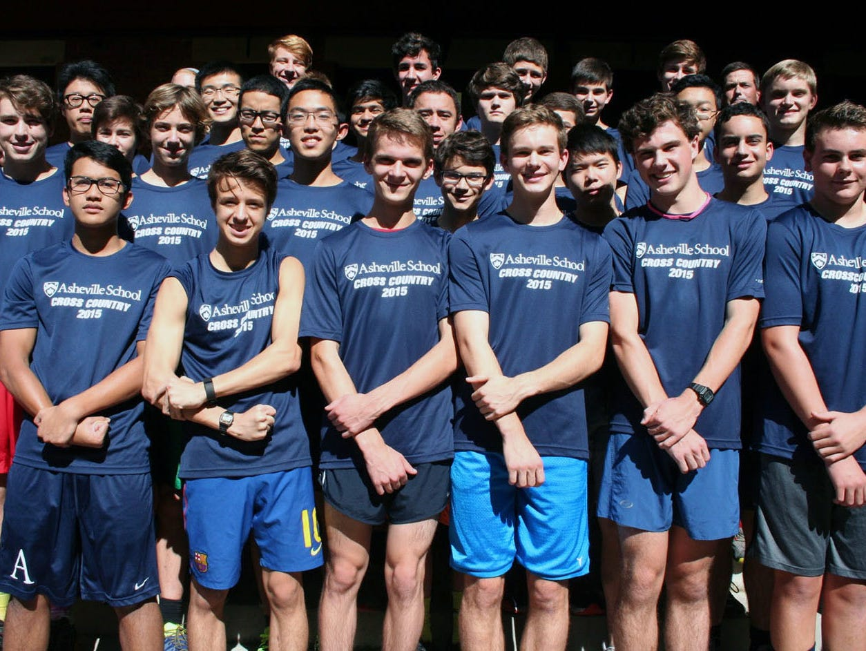 The Asheville School boys cross country team.