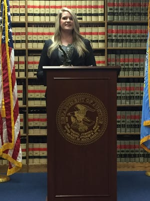 Assistant U.S. Attorney Jennifer Mammenga received a regional award Thursday for her work prosecuting drug crimes.