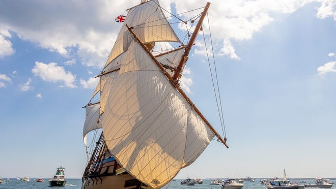 The Mayflower II was named to the National Register of Historic Places.