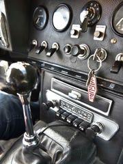 The interior of race car diver Jim Pace's 1967 Jaguar
