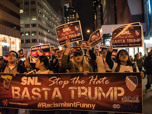 Latino Organizations Demonstrate Against Donald Trump Hosting SNL