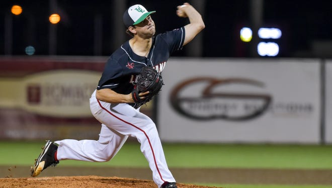Gunner Leger went 7.0 innings with 10 strikeouts in a 3-0 win over Appalachian State on Friday night.