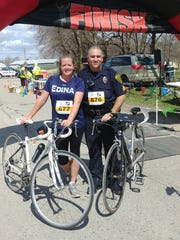 Heather and Brian Hubbard of New Hope after completing