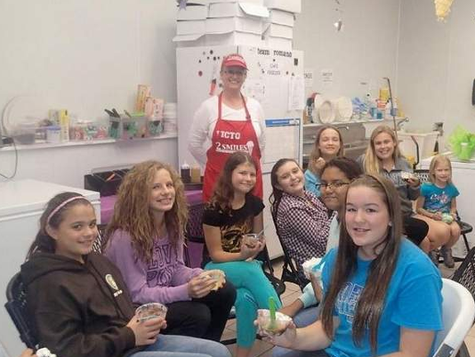Girl Scouts learn about business