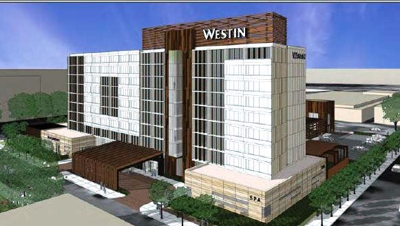 Rendering of the Westin Hotel to be built in Jackson provided by developer Joseph Simpson.