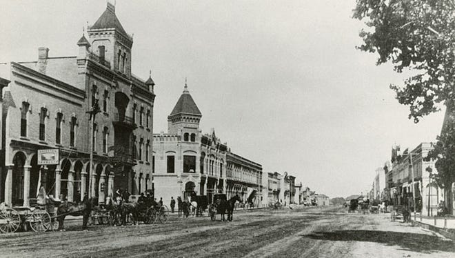 Neenah's Wisconsin Avenue is shown in this photograph circa 1880s.