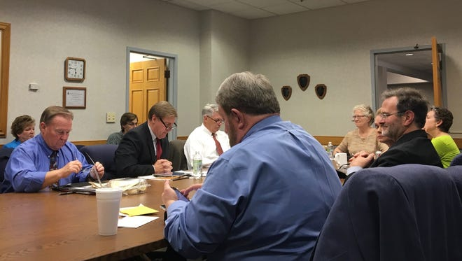 Staunton City Council meets at its work session on Thursday, April 27, 2017, at city hall in Staunton, Va.