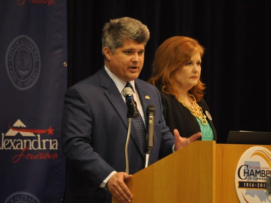 Alexandria Mayor Jacques Roy and Central Louisiana Chamber of Commerce President Deborah Randolph welcomed those in attendance at the Alexandria part of the Army Listening Session on Fort Polk.
