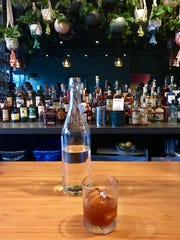 Behind the bar at The Waterbird in Asheville.
