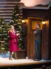 "Erica Elam and Matt Holzfeind perform a scene in ""Almost, Maine."""