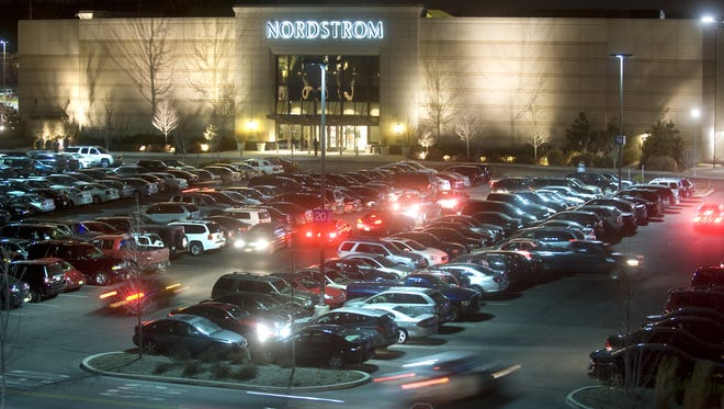 File: A view of the Cherry Hill Mall parking lot.
