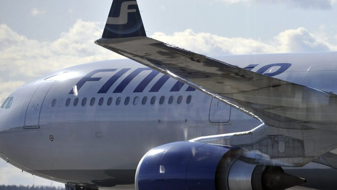 Finnair Flight 6 arrives to Helsinki from New York on April 19, 2010.