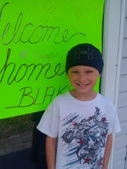 Blake Draeger returned home from the hospital to a community-wide welcome.