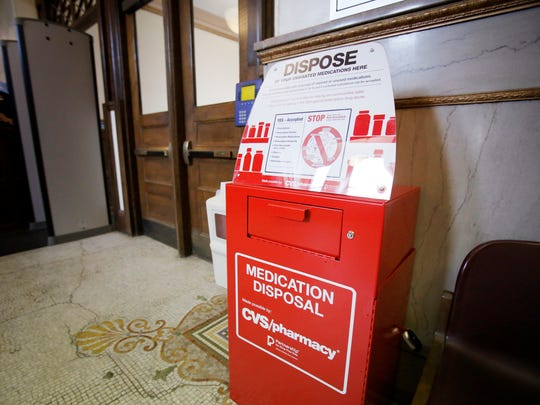 A Drug Collection Unit installed at Elmira City Hall has collected about 374 pounds of  unused, unwanted or expired medication. The box was placed in city hall in July of 2016.