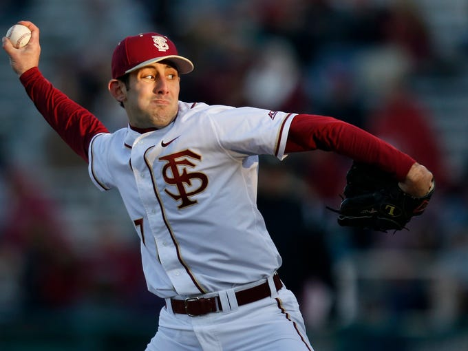 FSU's Mike Compton pitches against Oakland University