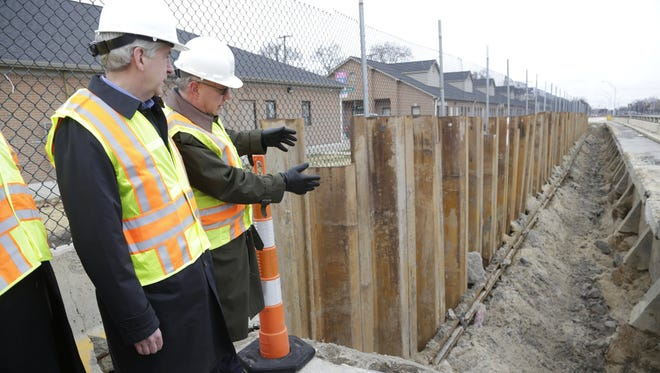 On the Lodge, Michigan Department of Transportation Director Kirk Steudle explains to Gov. Rick Snyder in December what's needed to fix roads.