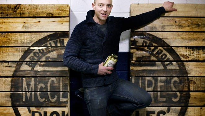 Joe McClure, co-owner of McClure's Pickles, is shown at his warehouse in Detroit. McClure's has been growing at 30% to 35% a year.