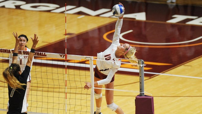 St. Philip graduate and Virginia Tech junior Amanda McKinzie has been named the ACC Player of the Week.