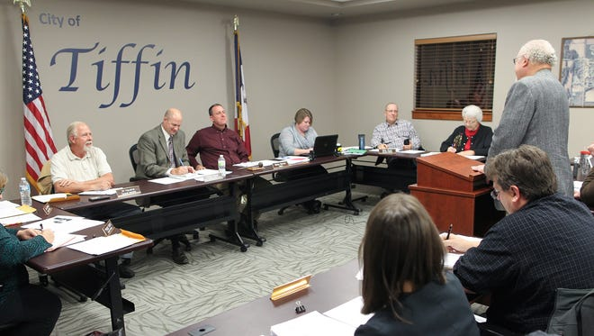 The Tiffin City Council holds a public hearing regarding the minimum wage at the Tiffin City Council meeting on Tuesday, Nov. 10, 2015.