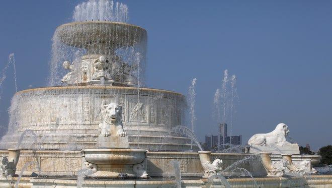 The James Scott Memorial fountain on Belle Isle/