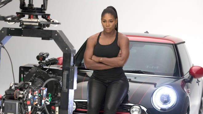"""Serena Williams appears in the ad campaign for the car company, Mini, titled, """"Defy Labels."""" It will appear during the 2016 Super Bowl."""