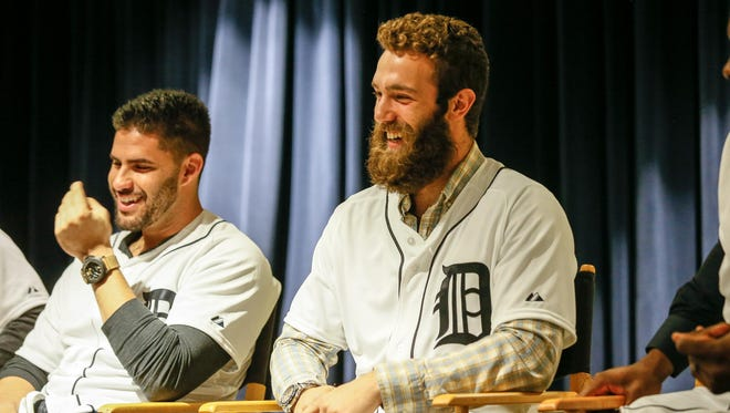 Tigers pitcher Daniel Norris, with his bushy beard, which he has now shaved off. He says he's excited for the season.