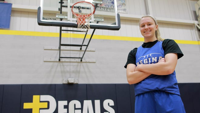Regina's Kennedy Brown poses for a photo during practice on Thursday, Feb. 25, 2016.
