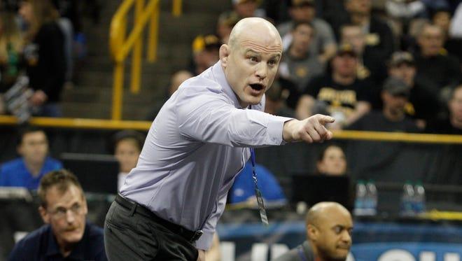 Penn State head wrestling coach Cael Sanderson.