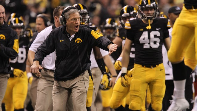 Iowa coach Kirk Ferentz has a lot to tackle in four weeks of spring practice, his 18th at the school.