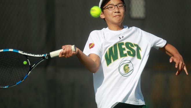 West High junior Jiung Jung is the defending Class 2A state champion in singles.