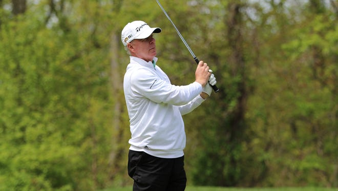 George Zahringer III, a Rye native and Deepdale member, shot a 3-under 67 on Tuesday and leads the MGA Senior Amatuer at Huntington C.C. by three shots heading into the final round.