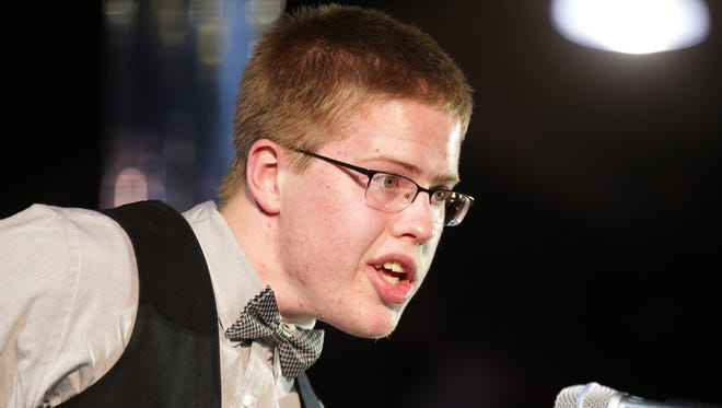Former Columbus North basketball standout Josh Speidel presented the Courage Award at the inaugural Indiana Sports Awards, April 28, 2016.