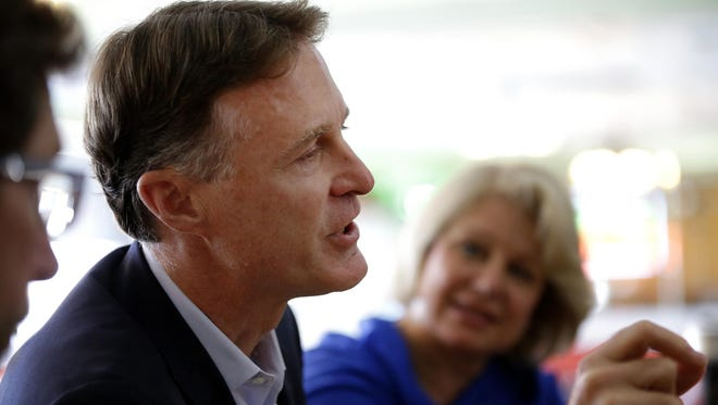 Evan Bayh, the former two-term governor and two-term senator, speaks about why he decided to try to win back his old Senate seat on July 13, 2016.