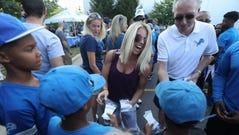 Kelly Stafford, wife of Lions quarterback Matthew Stafford,