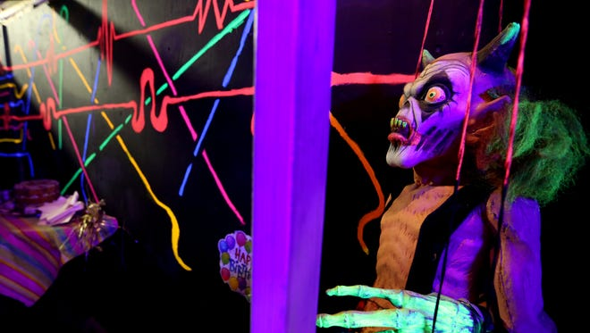The fun house haunt at the Nightmare Factory at the Oregon School for the Deaf in Salem on Tuesday, Sept. 27, 2016. The haunted house opens for its 29th year on October 7.
