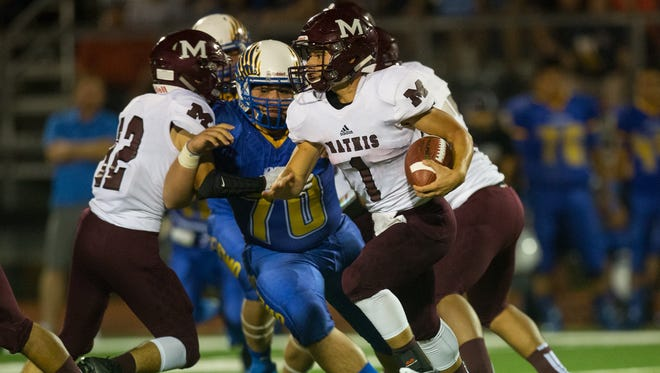Mathis QB Bobby Herrera and the Pirates will take on George West on Friday.