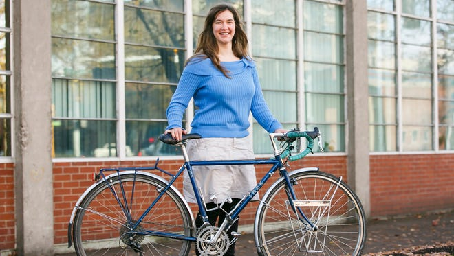 Emily Loberg, 24, traveled four months solo cross-country, cycling from Salem, Ore., to Bar Harbor, Maine.