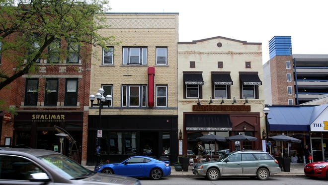 Downtown Ann Arbor businesses as seen on Thursday, May 21, 2015.