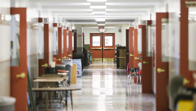 Classroom doors are left open at Auburn Elementary School  on Aug. 29, 2016. School starts on Tuesday, Sept. 2.