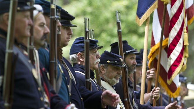 The Historic Village at Allaire State Park hosted its annual Civil War re-enactment in 2014.