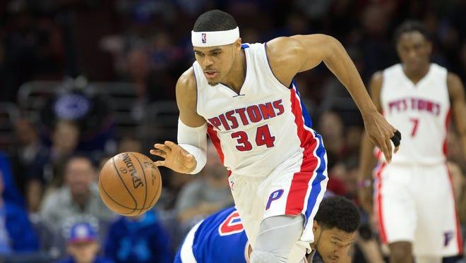Pistons forward Tobias Harris.