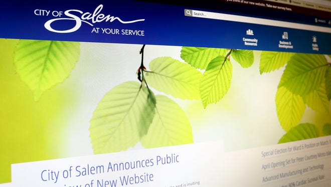 The redesign of the City of Salem website. Photographed on Sunday, March 5, 2017.