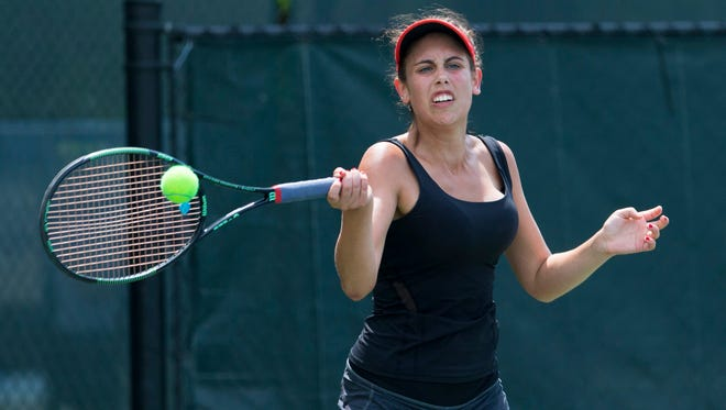 Eva Borders avoided the upset by squeaking out a 6-4, 1-6, 10-8 victory in the Region Six championship match
