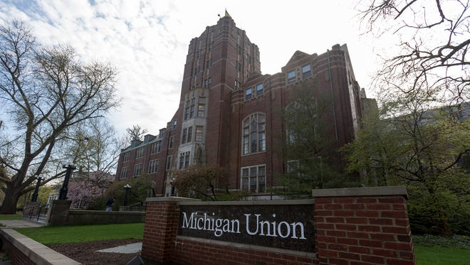 The Michigan Union building at the University of Michigan in Ann Arbor.