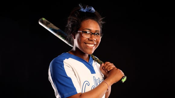 McNary junior Nadia Witt is nominated for Softball Player of the Year in the Statesman Journal Sports Awards. Photographed at the Statesman Journal in downtown Salem on Tuesday, May 23, 2017.