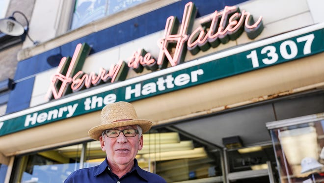 Paul Wasserman, owner of Henry the Hatter, poses for a photo outside of the store, Friday, June 30, 2017 in Detroit.