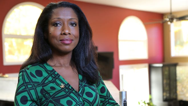 """Anqunette """"Q"""" Jamison, a former Fox2 news anchor, is a volunteer advocate for medical marijuana and uses it to treat her MS. She is photographed in November 2016."""
