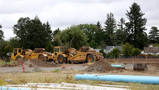 A 180-unit affordable housing apartment complex is under construction in northeast Salem on Sunday, Aug. 13, 2017.